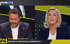 Marine Le Pen réussit son passage à Face à BFM TV